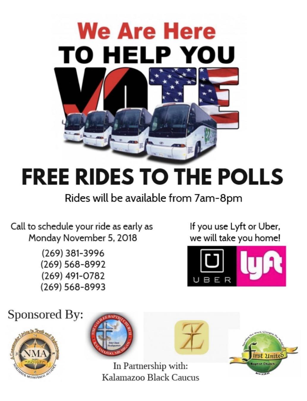 Free ride to Vote!